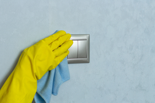 Self disinfection coating on switches