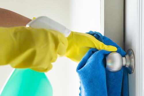 How To Apply Self Disinfecting Coating On Door Knobs?